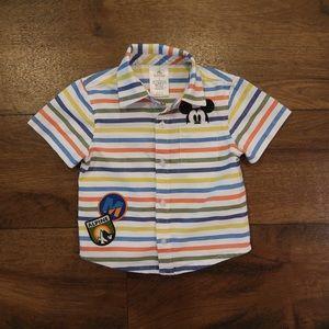Mickey Striped Button Shirt